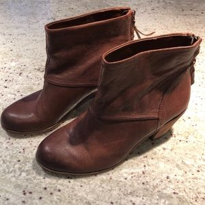 Sam Edelman Brown Leather Booties! Sz 8 great cond
